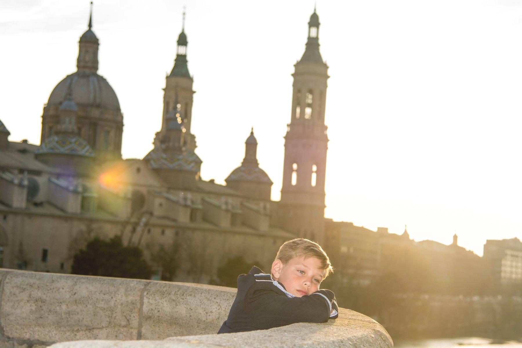 Reportaje de comunión niño en el Parque del Agua en Zaragoza 6